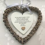 Shabby personalised Chic Special DAUGHTER Present ~ ANY NAMES Willow Heart Gift